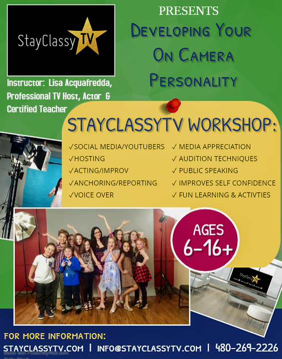 StayClassyTV Develop Your On Camera Pers