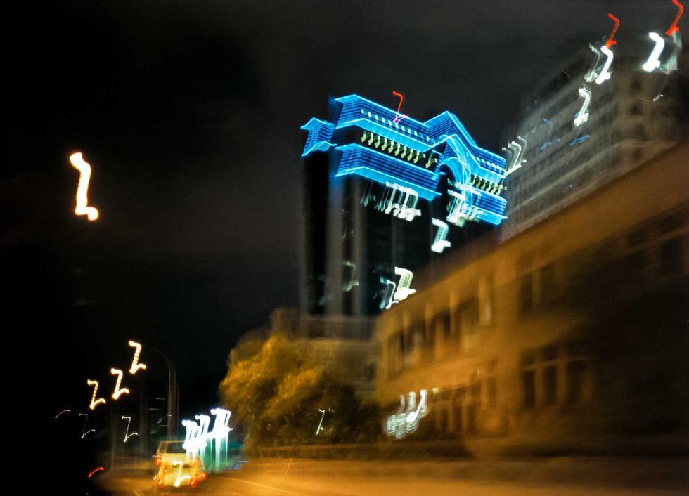 Neon azul Klein