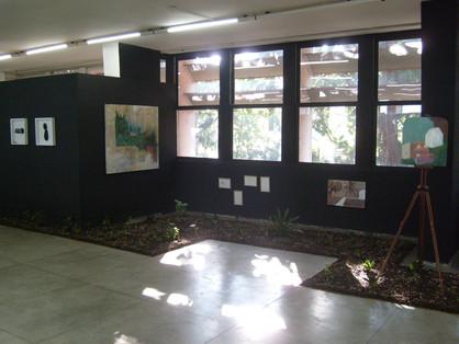 Jardim do Bispo site specific com pinturas, desenho e plantações Museu Bispo do Rosário de Arte Contemporânea, Rio de Janeiro 2008