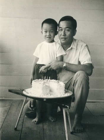 Birthday cake with my Dad