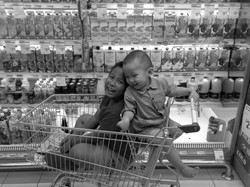 Supermarket Shopping with Boys
