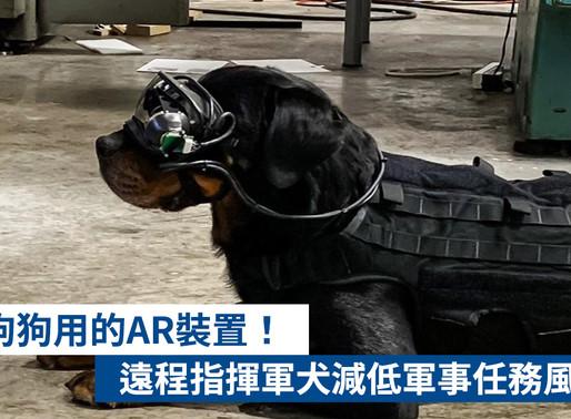 給狗狗用的AR裝置!遠程指揮軍犬減低軍事任務風險