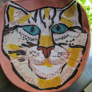 Lizella Cat Plate