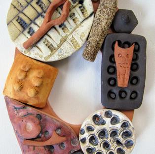Around the Loop II, Ceramic and Wood