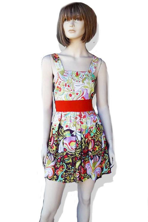 Vestido Florido com Cinto/Faixa