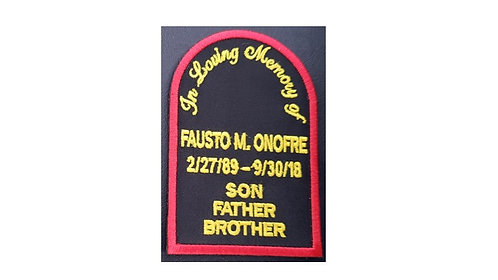 Fausto M. Onofre Memorial Patch