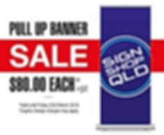 Pull Up Banner Specials 80+gst - Sign Shop QD