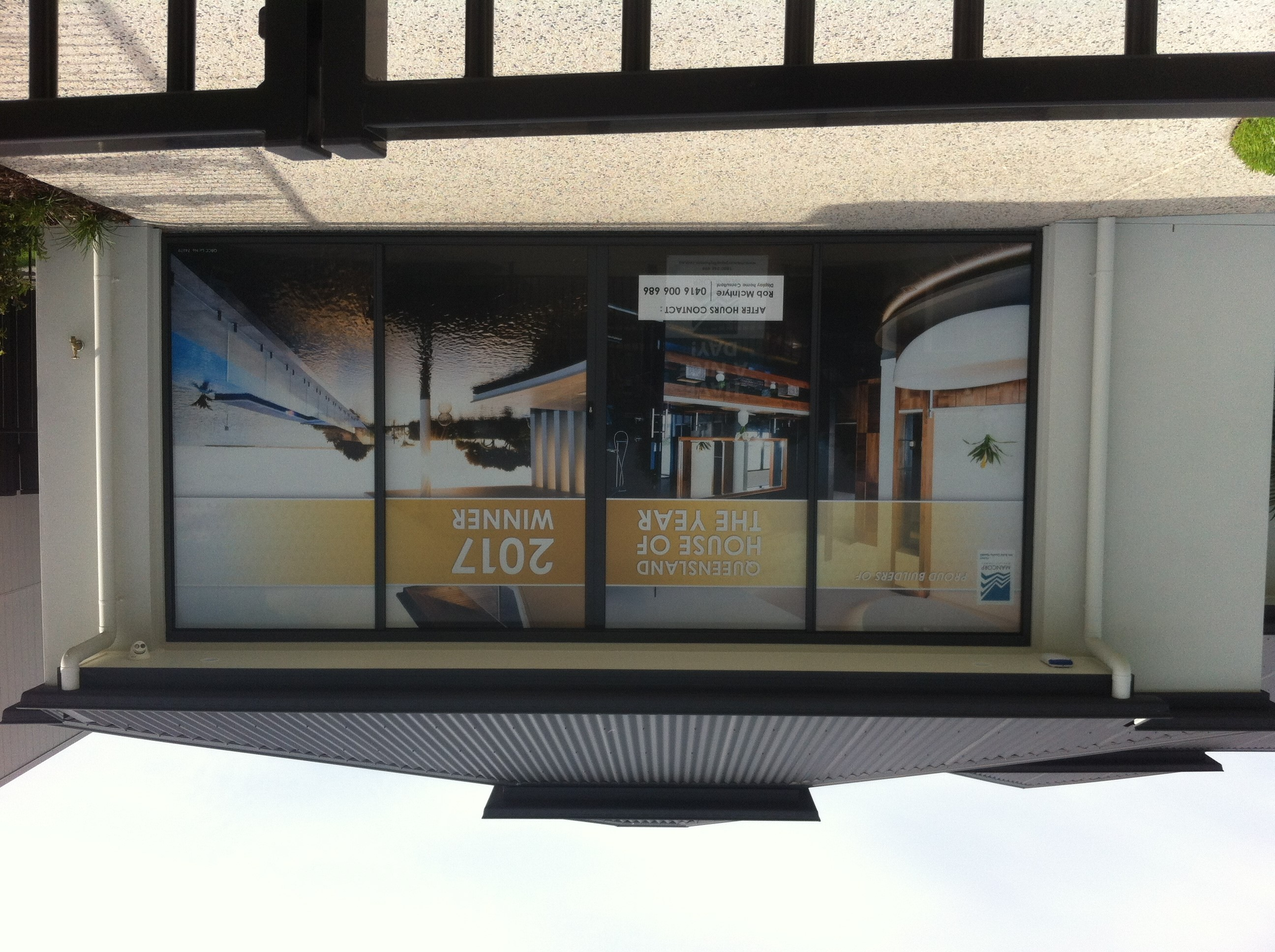 One Way Vision Window Signage