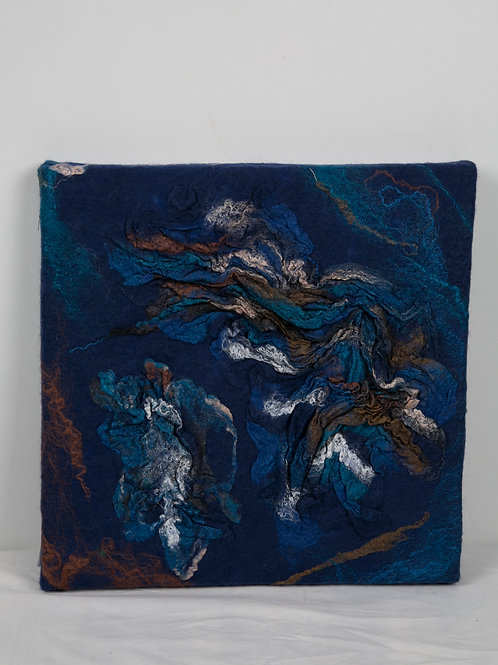 Wandpaneel blauw 40 x 40