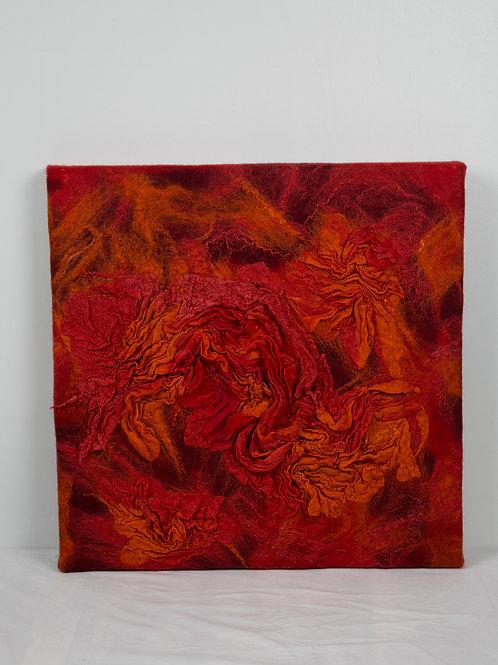 WANDPANEEL rood 50 x 50
