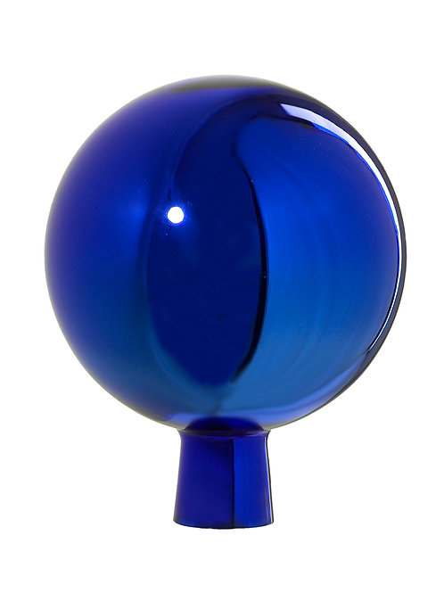 Rosenkugel aus der Farbglashütte Lauscha blau 15 cm