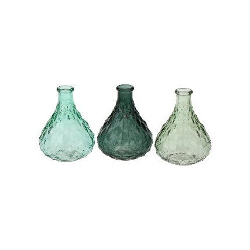 "Vase ""Gigi"" Pressglas olivgrün"