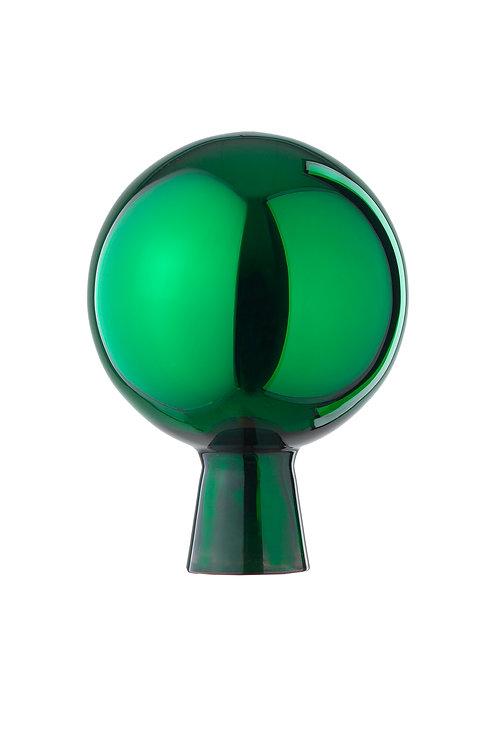 Rosenkugel aus der Farbglashütte Lauscha grün 12cm