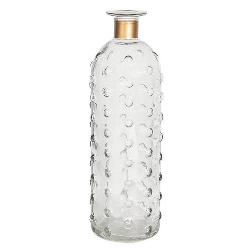 "Vase ""Glamour"" mit Goldrand"