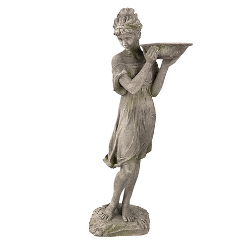 """Frauenfigur """"Darcelle"""" mit Vogeltränke"""