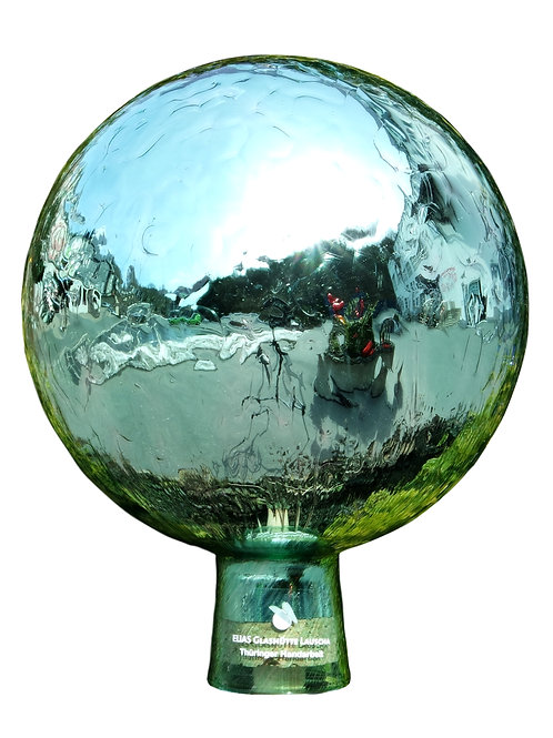 Rosenkugel aus der Farbglashütte Lauscha Venezia mint 15 cm