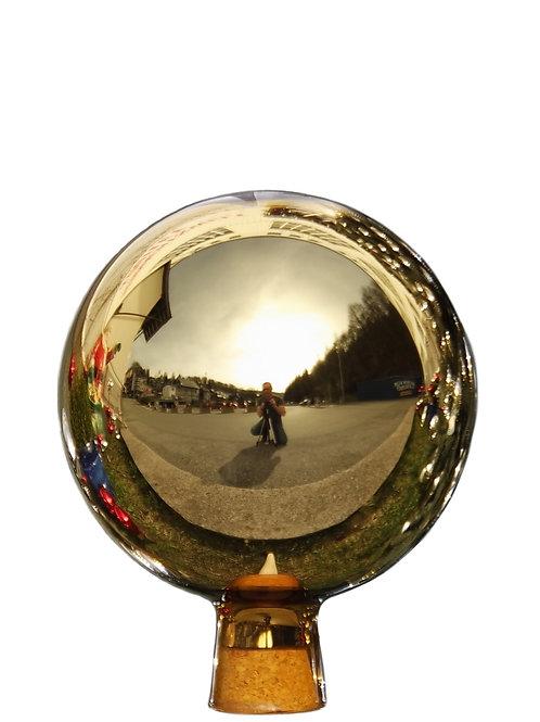 Rosenkugel aus der Farbglashütte Lauscha gold 18 cm