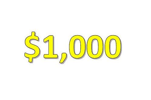 $1,000 Seniors 2021 Donation