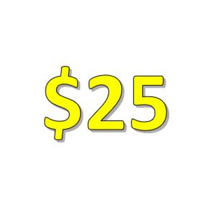 $25 Seniors 2021 Donation