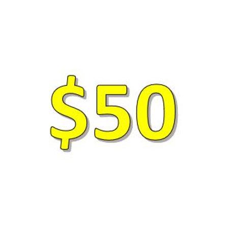 $50 Seniors 2021 Donation