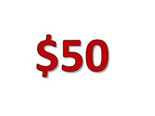 TA Donation $50