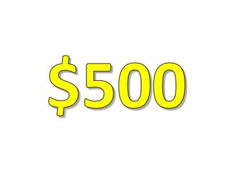 $500 Seniors 2021 Donation