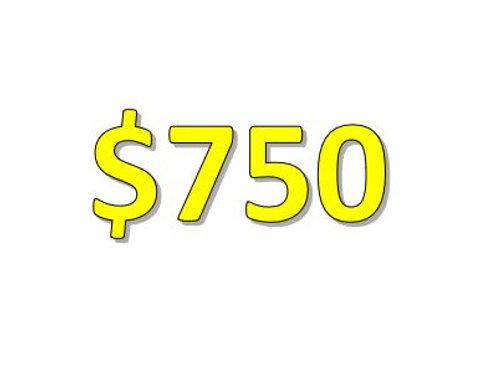 $750 Seniors 2021 Donation