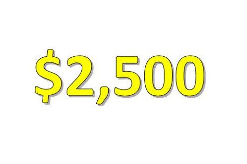 $2,500 Seniors 2021 Donation