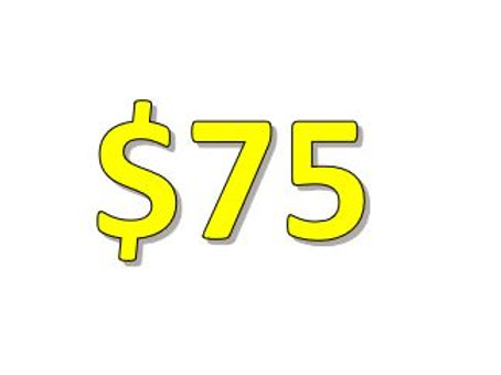$75 Seniors 2021 Donation