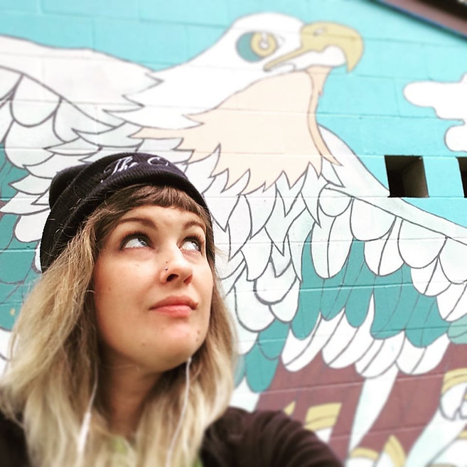 Jenn and the eagle.jpg