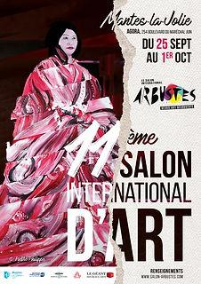 affiche 2021 salon d'art arbustes de mantes la jolie - yvelines