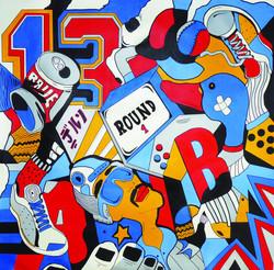 16- DELSO- Ludique- acryl-sur toile-85x8