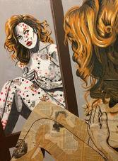 Annabelle Amory, peinture et page de liv