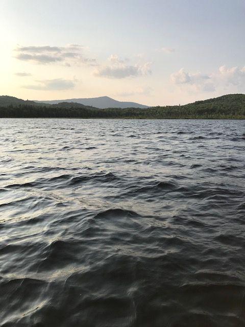 Lake Umbagog, during a fishing trip at dusk.