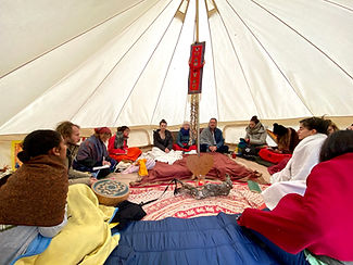 2020 10 H4H Humanity Quest Group in Tent