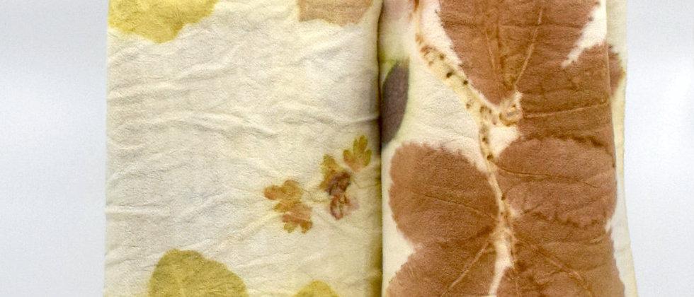 echarpe en laine et teinture vegetale
