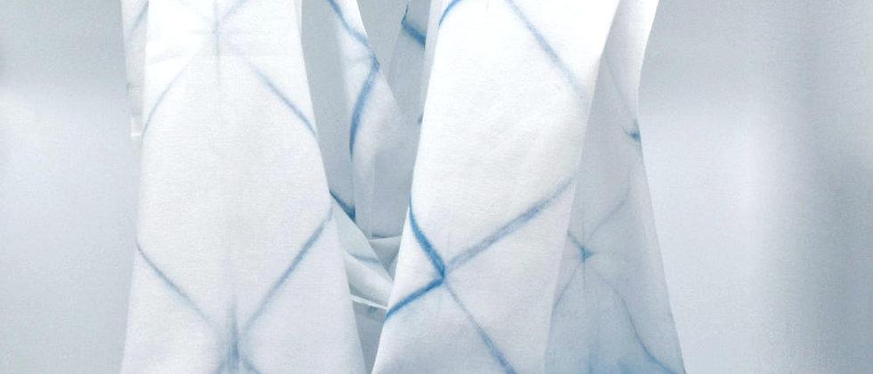 Foulard en coton japonais teint à l'Indigo