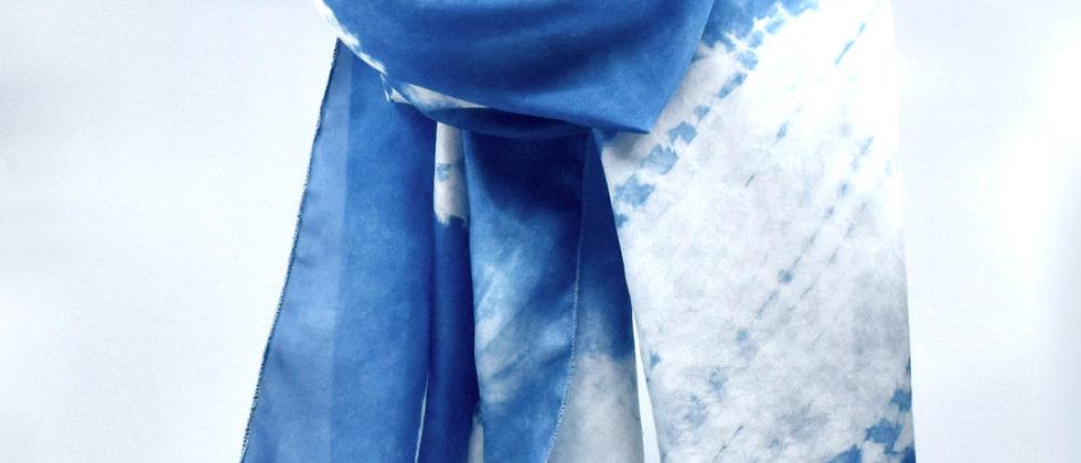 Foulard en soie Bleu Indigo