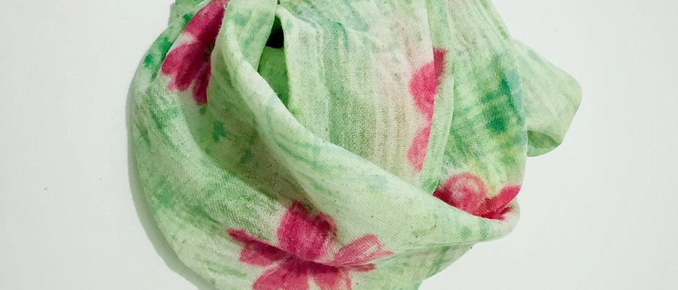 Foulard peint à la main Vert