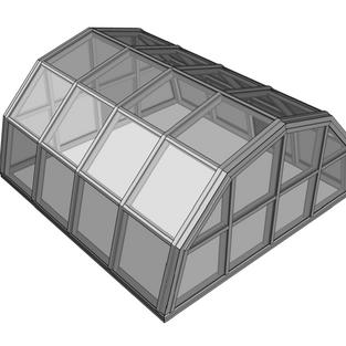 Segmented Greenhouse Skylight