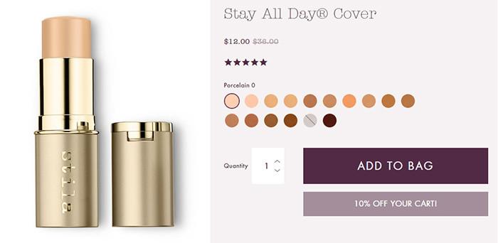 Stila Stay All Day® Cover   Kongdeals은 핫딜, hot deals, 할인쿠폰,아마존 할인코드, 아마존 쿠폰 코드, Amazon, coupons, promo codes, coupon codes, freesbees, sale, clearance 등 미국 쇼핑 채널 세일 및 브랜드 정보를 매일 공유