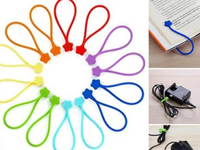 Silicone Strong Magnetic Cable Ties 14 Pack $7.49 << $14.99