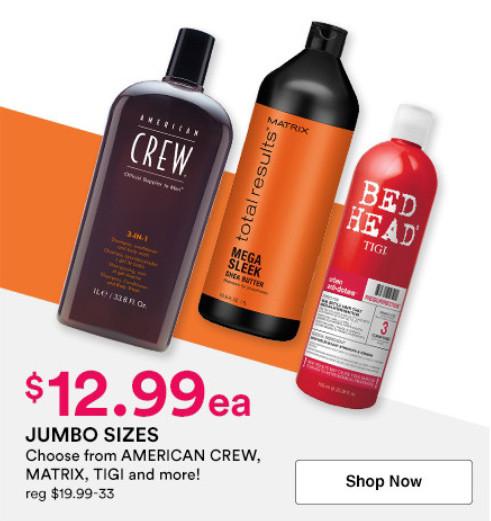 Ulta Beauty offers 50% Off select Jumbo Shampoos & Conditioners | Kongdeals은 핫딜, hot deals, 할인쿠폰,아마존 할인코드, 아마존 쿠폰 코드, Amazon, coupons, promo codes, coupon codes, freesbees, sale, clearance 등 미국 쇼핑 채널 세일 및 브랜드 정보를 매일 공유