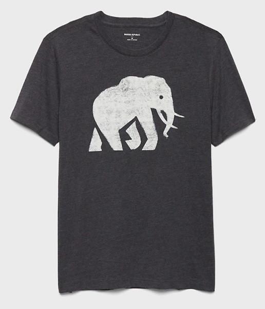 Elephant Logo Graphic T-Shirt | Kongdeals은 핫딜, hot deals, 할인쿠폰,아마존 할인코드, 아마존 쿠폰 코드, Amazon, coupons, promo codes, coupon codes, freesbees, sale, clearance 등 미국 쇼핑 채널 세일 및 브랜드 정보 공유