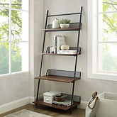 Walker Edison Industrial Bookcase w/ 4-Shelves (Dark Walnut) $131.99 << $199.99