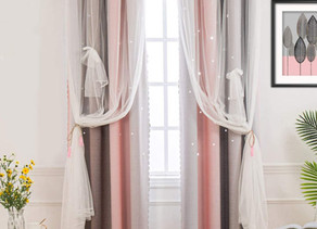 Double Layer Star Cut Out Curtains $12.99 << $25.99