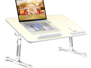 Portable Adjustable Laptop Desk w/USB Cooling Fan $32.49 << $51.99