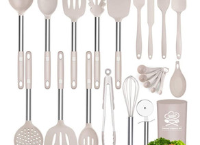 Professional Silicone Cooking 17 Utensil Set $13.19 << $26.99