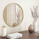 Mid-Century Modern Gold Accent Mirror Only $67.52 << $129