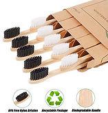 Eco-Friendly Soft Bristles Bamboo Toothbrushes 10-pcs Set $4.49 << $12.99